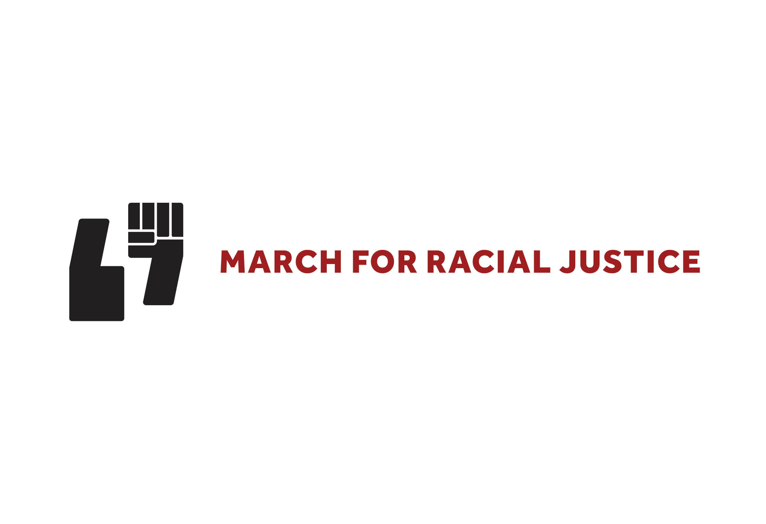 March for Racial Justice logo mark